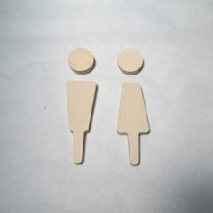 다니우드 화장실 도어사인 남여 아이콘
