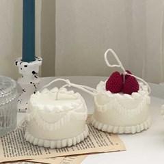 생크림 케이크 캔드 / 딸기 크림 캔들 / 생일 케이크 캔들