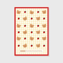 Dot strawberry check-ivory(study planner)_(1617116)
