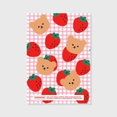 Dot strawberry check-pink(study planner)_(1617115)