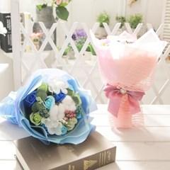 코튼 비누장미 꽃다발 핑크 로즈데이 성년의날 선물_(2667553)