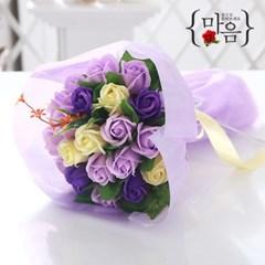 장미 20송이 꽃다발 바이올렛 로즈데이 성년의날 선물_(2666839)