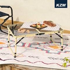 카즈미 NEW 아이언메쉬 슬림미니 캠핑 테이블 K20T3U002