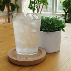 사각라운드 PC컵-360ml(12oz/투명)-1P 홈카페 물컵 투명플라스틱컵