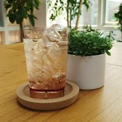 사각라운드 PC컵-360ml(12oz/브라운)-1P 홈카페 물컵 투명플라스틱컵
