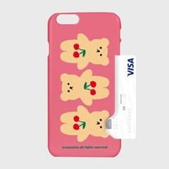 Three cherry big bear-pink(카드수납케이스)_(1617768)