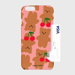 Dot cherry big bear-pink(카드수납케이스)_(1617663)