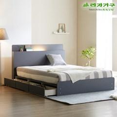 라자가구 오브 가인 LED 3서랍수납형 Q 침대프레임 DM8864