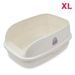 빅브레드 평판 화장실 XL 크림 고양이화장실 배변용품