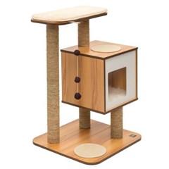 베스퍼 캣타워 베이스 월넛 고양이 타워 놀이 하우스