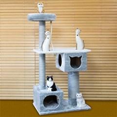 엠펫 스테이블 중대형 캣타워 고양이 2개 룸 놀이터