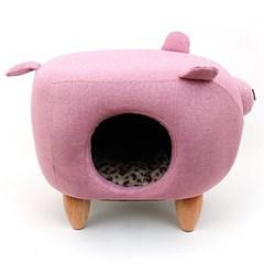 펫모닝 핑크돼지 고양이 하우스 인테리어 가구