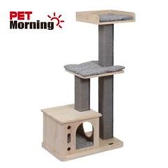 고양이 놀이터 펫모닝 원목 사각기둥캣타워 PMC-6515