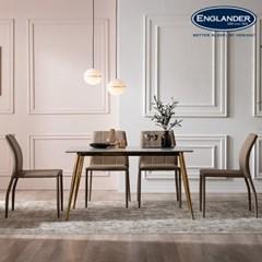 아말피 천연 대리석 4인용 식탁 세트(의자4)
