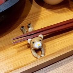 애니마르 젓가락 받침 겸용 도자기 데코소품