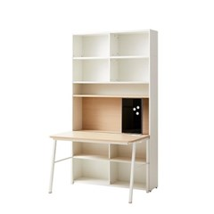 한샘 티오 슬라이딩 콘센트 책상세트 6단 120cm (컬러 택1)