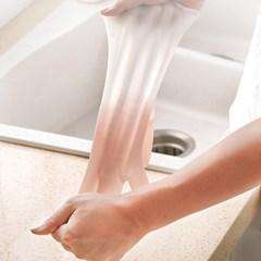 주방 욕실 설거지고무장갑 논슬립 터치 고무장갑 5쌍 1set(랜덤)
