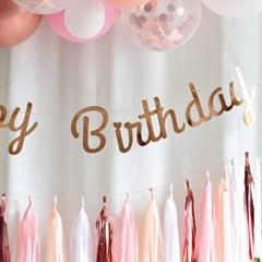 로즈골드 피치핑크 클라우드버블 생일파티세트