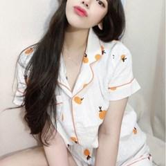 요루면 오렌지 잠옷