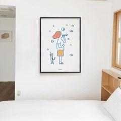 비눗방울2 M 유니크 인테리어 디자인 포스터 소확행