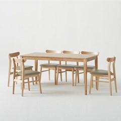 한샘 로하 원목 6인 식탁세트 (비트윈의자6포함)_DIY