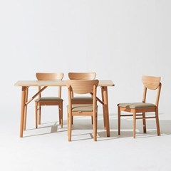 한샘 노스 오크 4인 식탁세트(의자4 포함)
