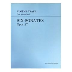 (전시상품) EUGENE YSAYE Pour Violin Seul SIX SONATES Opus 27