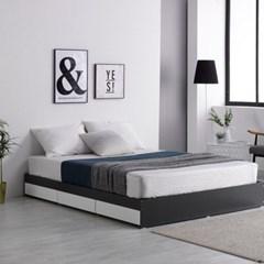 미코퍼니처 루시 3서랍 평상형 침대 Q + 본넬매트리스