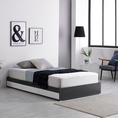 미코퍼니처 루시 3서랍 평상형 침대 SS + CL라텍스독립매트리스