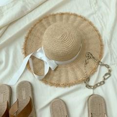바캉스 라피아햇 파나마햇 리본 밀짚 모자