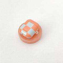 Airpods case - orange checkered 에어팟 케이스