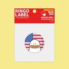 [링고라벨] 오우덕 PVC 스티커팩 나라별 4pcs