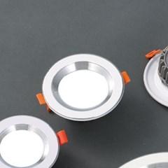 LED 매입등 실버레인 5W 다운라이트 타공사이즈 Ø90_(1896061)