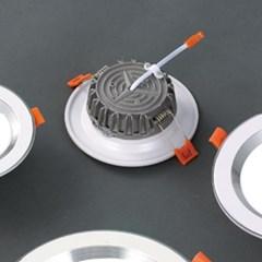 LED 매입등 실버레인 7W 다운라이트 타공사이즈 Ø100_(1896060)