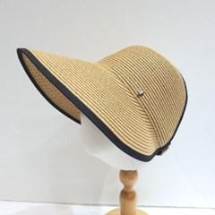 자외선차단 패션 기본 라탄 밀짚 오리대챙 썬캡 모자