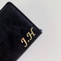 이니셜주문제작 1.5cm 네임스티커 라벨스티커 홀로그램 골드_(134363