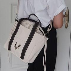 Canvas stitch Tote bag_Brown