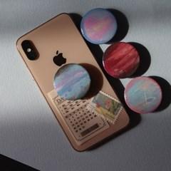 그려낸 핑크행성 그립톡 스마트톡