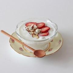 국내산 유리 꽃볼 아이스크림그릇 디저트볼