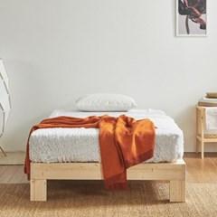[스코나]헤이스 원목 평상형 침대(SS)(매트별도)_(602804677)