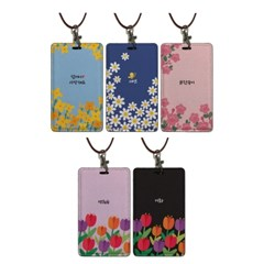MAMA'S GARDEN _이니셜카드지갑 목걸이홀더 8color