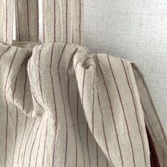 프릴 스트라이프&체크 복조리 에코백 6colors