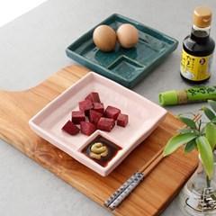 아이카 내츄럴 사각 스시 도자기접시- 4color