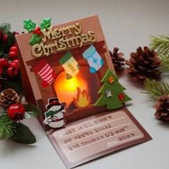 성탄절 벽난로카드 5set_(1314520)