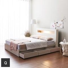 가구데코 제이스 LED 3서랍 퀸 침대프레임 FO2091