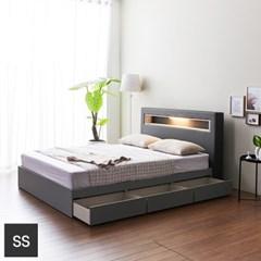 가구데코 제이스 LED 3서랍 슈퍼싱글 침대프레임 FO2088