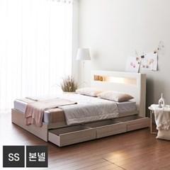 가구데코 제이스 LED 3서랍 슈퍼싱글 침대+본넬매트 FO2089