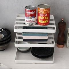 DIMONDE 철제 접시 정리대 주방선반 (사각3단) - 4color