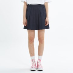 PLEATS SKIRT_NAVY