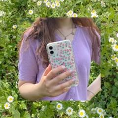 [뮤즈무드] summer rose (clear) 아이폰케이스